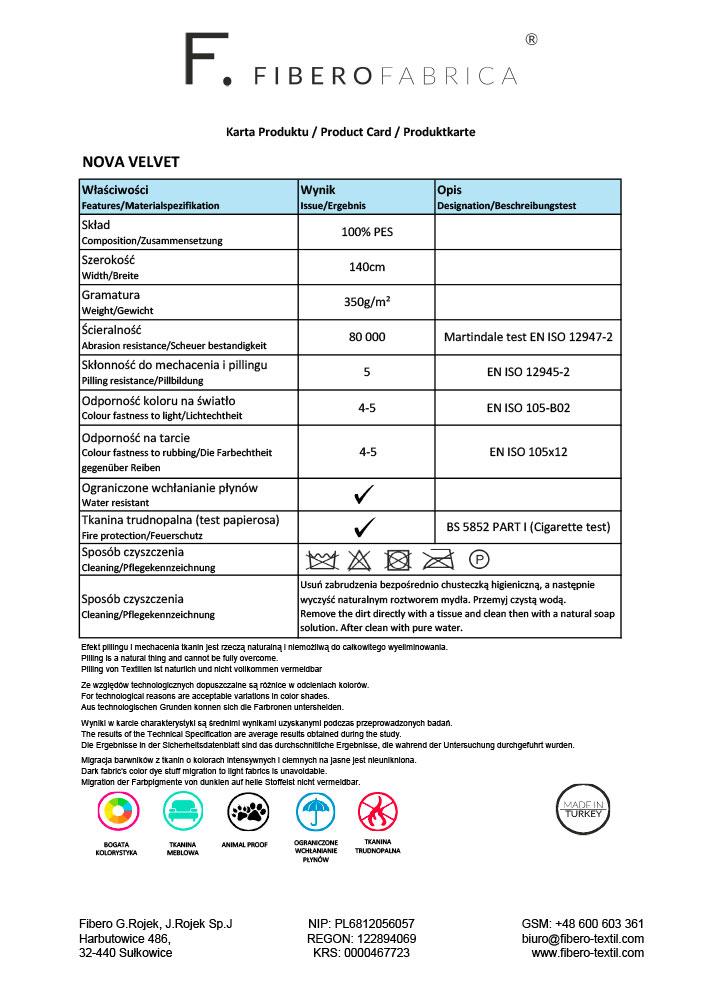 Karta produktu Nova Velvet
